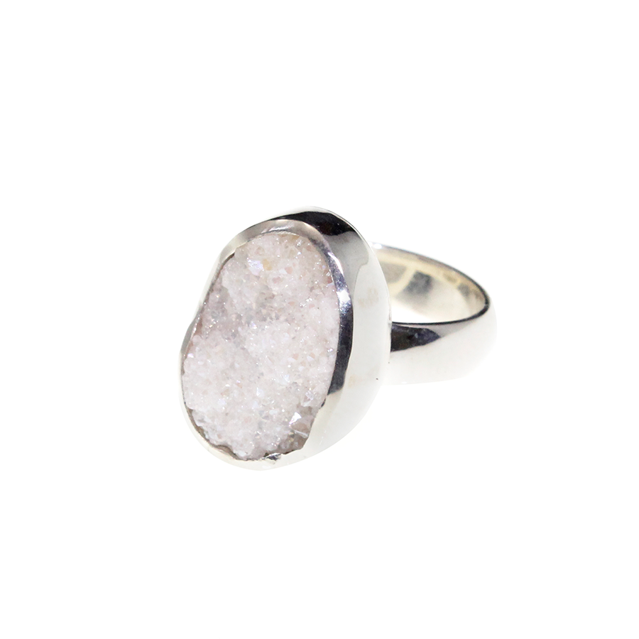 Timeless White Druzy Ring