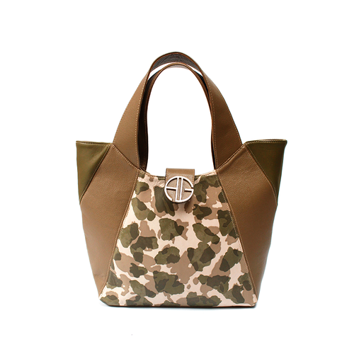 Camouflage Leather tote bag