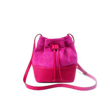 Load image into Gallery viewer, Pink Bucket Hand Bag