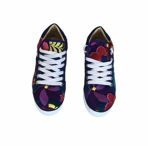 Blue and Flowers Shoes