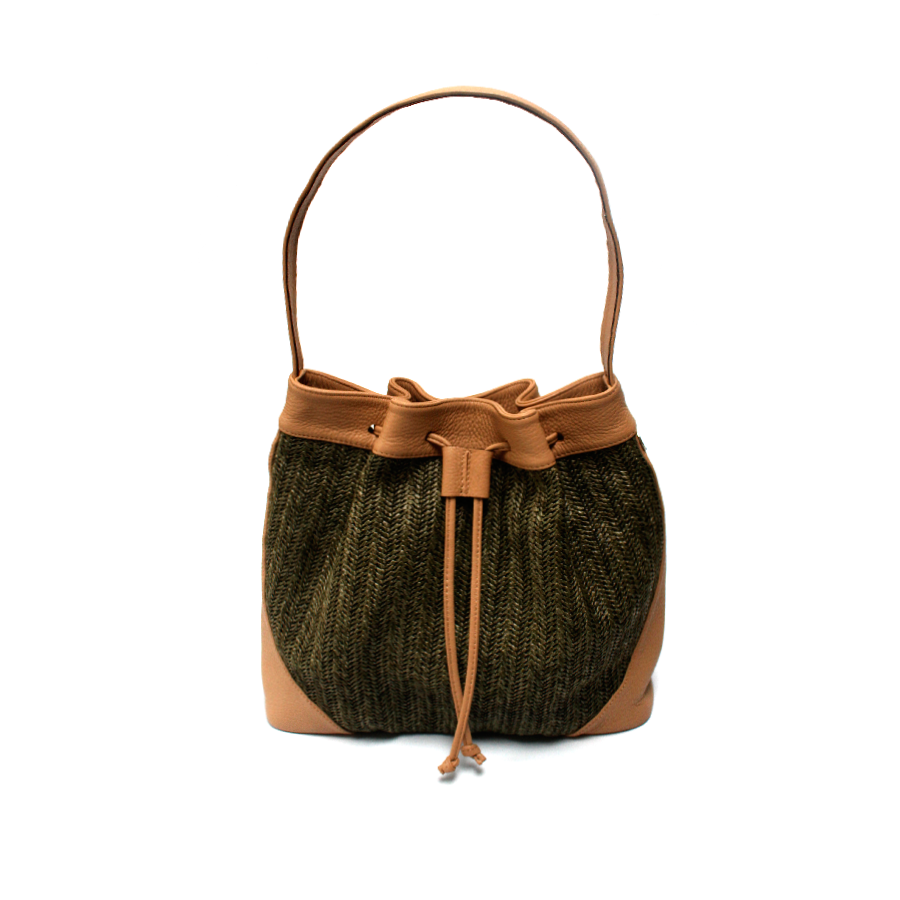 Green Bucket Bag