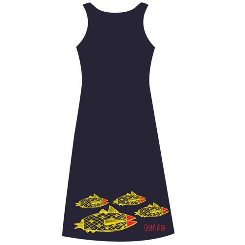 Costa Rican Navy Dress