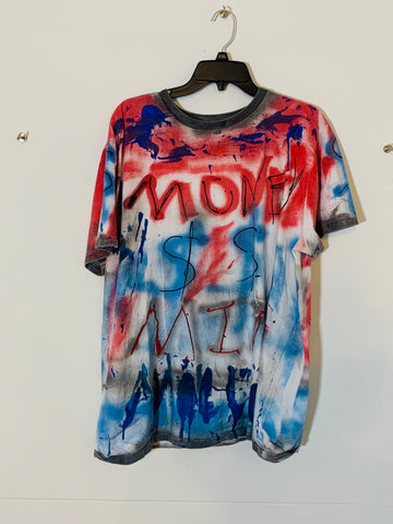 MONEY MIND MILLIONS BLUE / RED T-Shirt