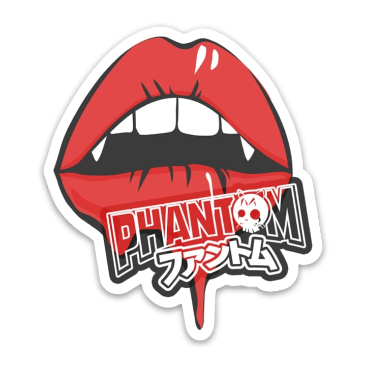Phantom Lips Sticker, Stickers - Phantom Tees®
