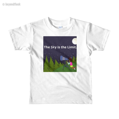 'The Sky is the Limit' Short Sleeve Kids T-shirt