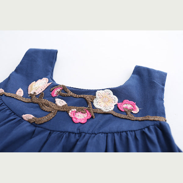 Flower Embroidery Lace Dress