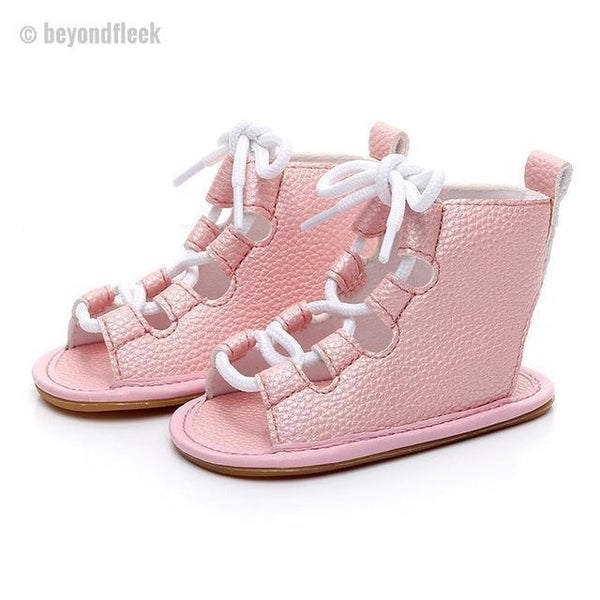 2018 Baby Girls Lace-up Gladiator Sandals