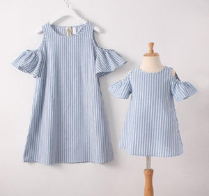 New Arrival Mommy and Me Off Shoulder Sundress