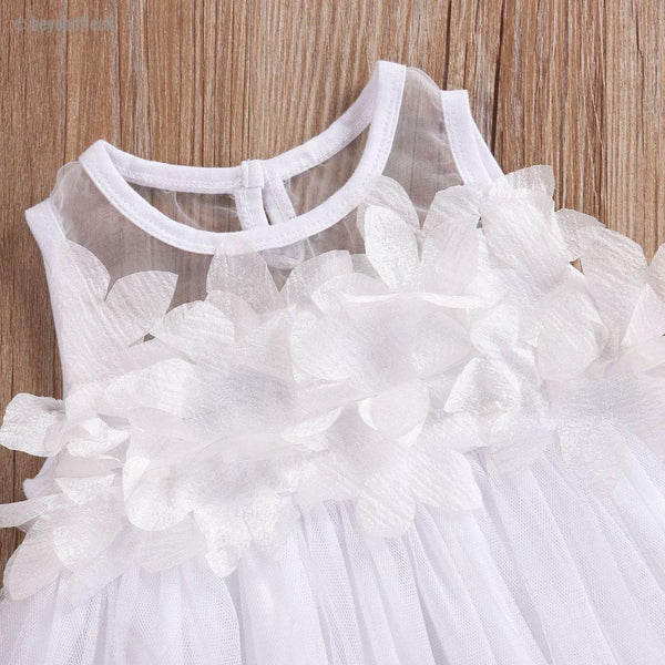 2018 Summer Flower Princess Petal Tulle Party Dress (9 months to 6 years)