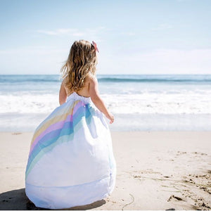 Rainbow Sea Beach Princess Dress 2T to  6 Years