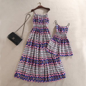 Dexia and Ima Mother and Daughter Bohemian Style Dress
