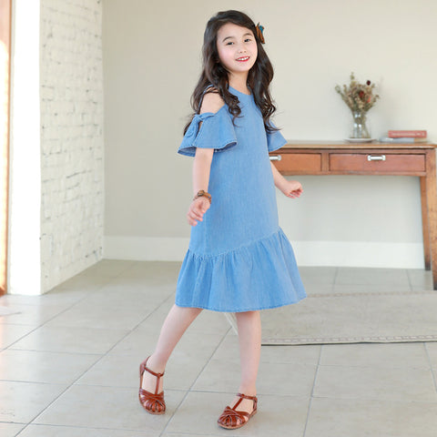 New Arrival Girls Denim Dress  4 to 14 years