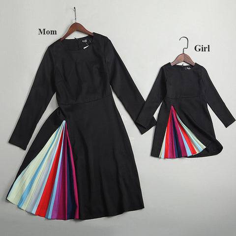 New Arrival Mommy and Me Rainbow Split Dress