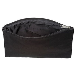 Black Canvas Zip Bag