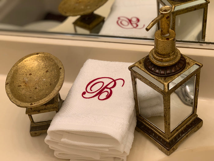 Monogram Washcloths (White)