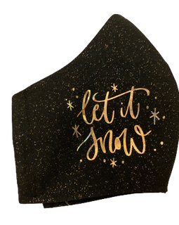 Let It Snow Glitter Face Mask