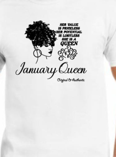 January Birthday Tee - Crew Neck