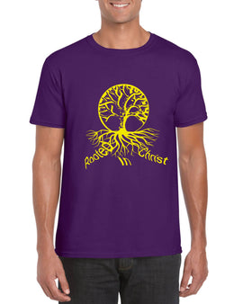 Rooted In Christ Unisex T-Shirt (Purple)