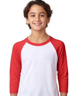 Youth Unisex CVC 3/4-Sleeve Raglan