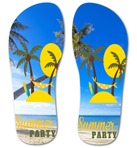 Summer Vacation Flip Flops