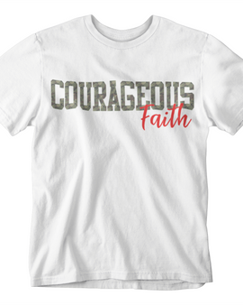 Courageous Faith White Tee (Men)