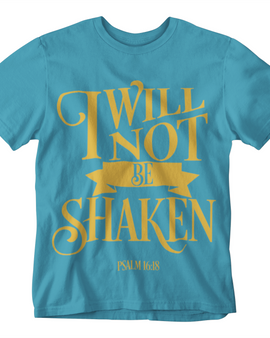 I Will Not Be Shaken Ladies T-Shirt