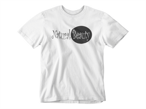 Natural Beauty White Crew Neck T-Shirt (Plus Size)
