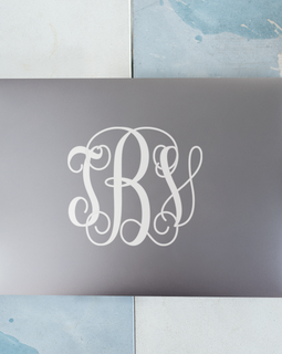 Three Letter Monogram Decal