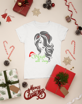 Sleigh All Day Ladies Semi-Fitted Scoop Neck T-Shirt