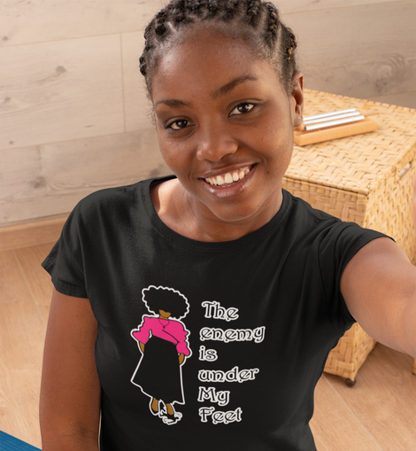 The Enemy Is Under My Feet Black Women's T-shirt