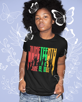 Juneteenth -Raise Your Hand to Freedom Unisex T-Shirts