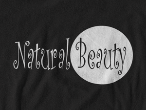 Natural Beauty Black V-Neck T-Shirt (Plus Size)