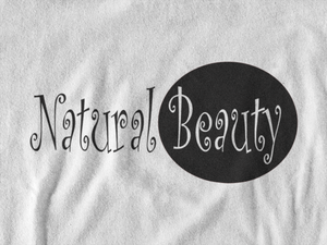 Natural Beauty White V-Neck T-Shirt (Plus Size)