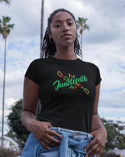 Juneteenth Chains Broken Unisex Tee