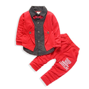 Nathan's 2 Piece Set Suit (Red)