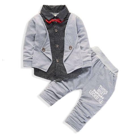Nathan's 2 Piece Set Suit (Gray)