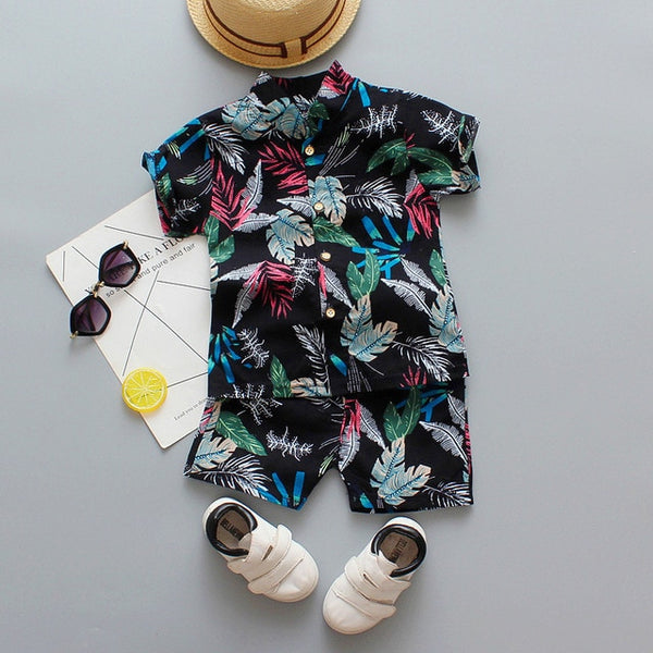 Bloom Leaves Shorts Set
