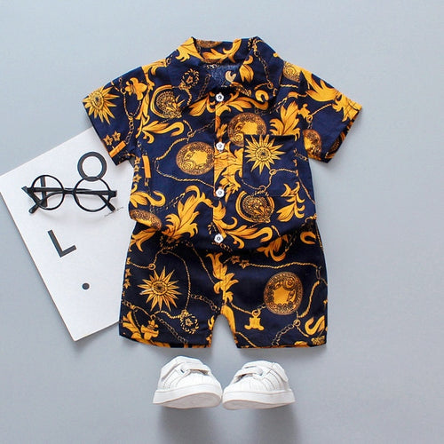 Gold Rush Boys Shorts Set