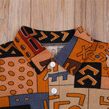 Afro Print Boys Shorts Set