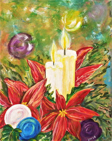 Candlelight Memories Acrylic Paint & Sip Kit with Video Lesson