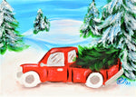 Christmas Truck Ride Acrylic Paint & Sip  Kit