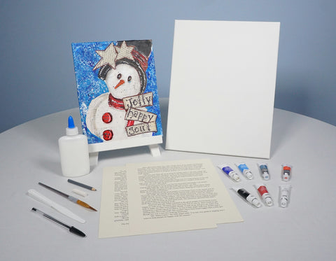 Jolly Snowman Mixed Media Painting Kit & Lesson