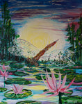 Dragonfly at the Bayou Acrylic Paint and Sip Kit