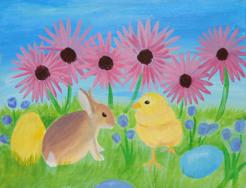 Easter Buddies Acrylic Paint & Sip Kit