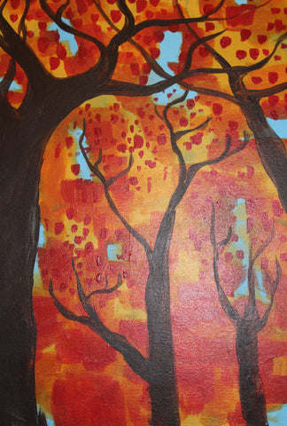 Fall Canopy Acrylic Paint and Sip Kit