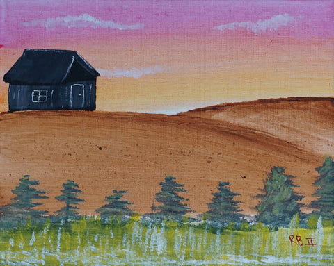 Farmhouse on the Hill Watercolor Paint & Sip Kit