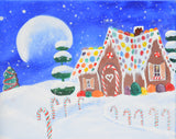 Gingerbread Cottage Acrylic Paint & Sip Kit & Video Lesson