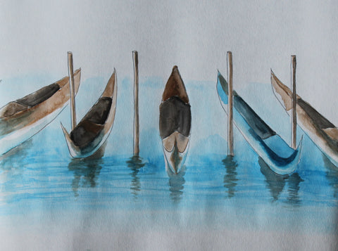 "Party Kit - ""Gondola Row"" - Watercolor Painting Kit & Lesson"