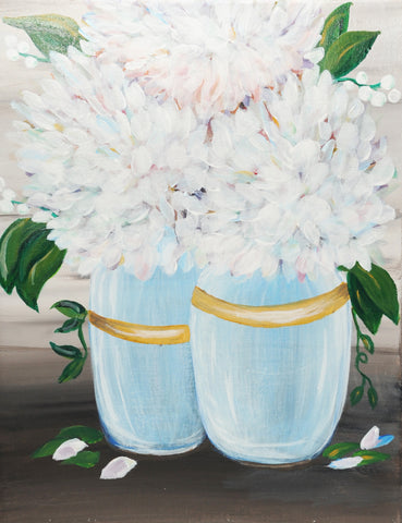 Summer Hydrangeas (ONLY) Acrylic Painting Kit & Video Lesson
