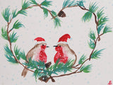 Holiday Love Birds PaintlyFun Christmas Gift Card